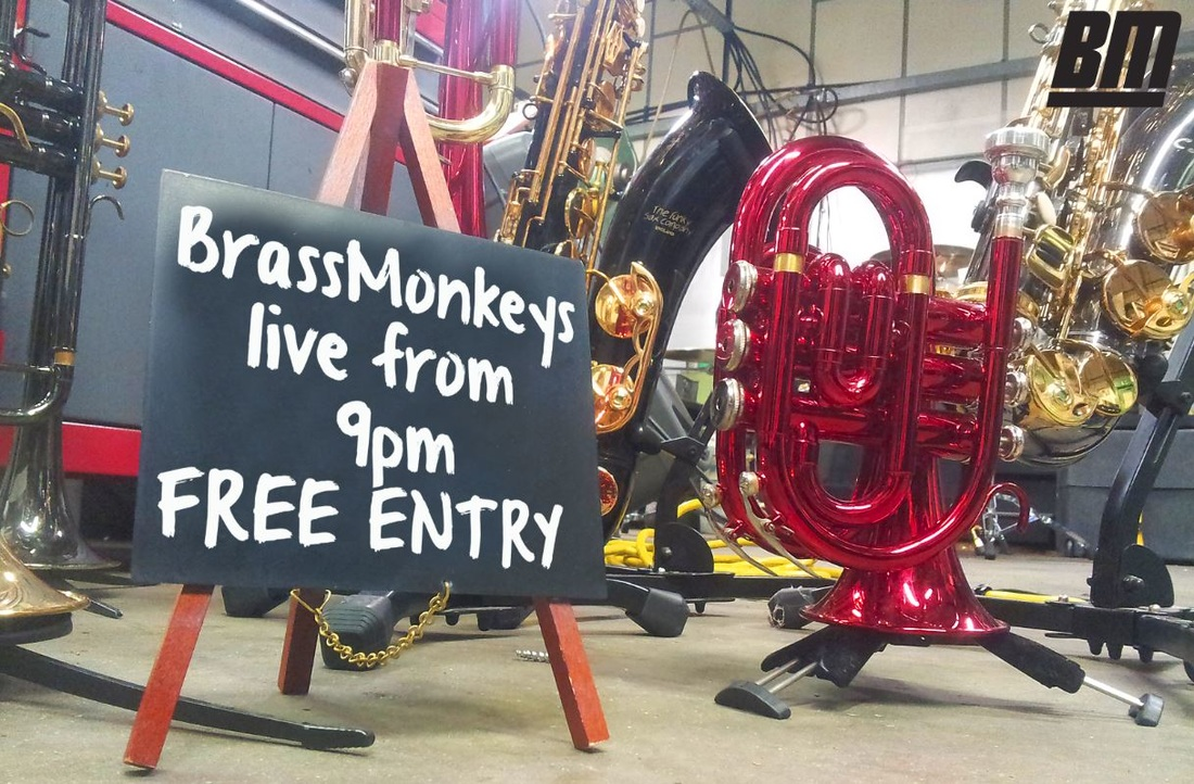 BrassMonkeys Band live from 9pm