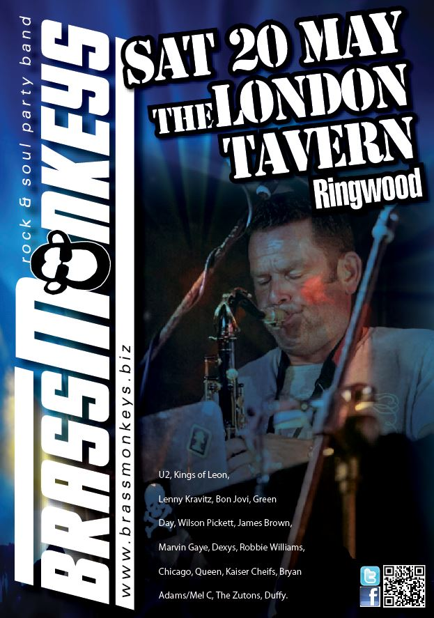 BrassMonkeys at The London Tavern - Ringwood - Sat 20 May